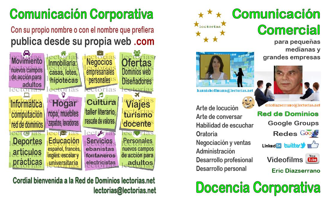 Comunicación Comercial; apoyo para empresarios, productores, vendedores, comerciantes, negociadores, docencia corporativa